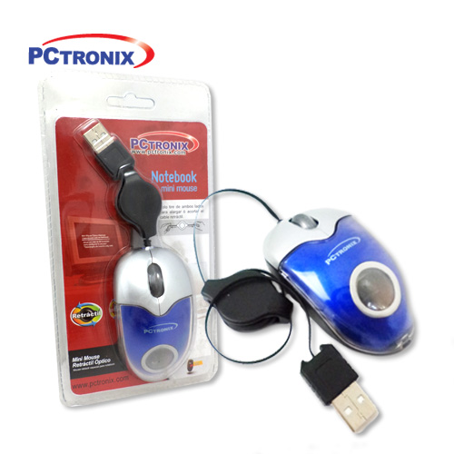 Mouse Retractil #MOM-101R USB 2BlisterSellado