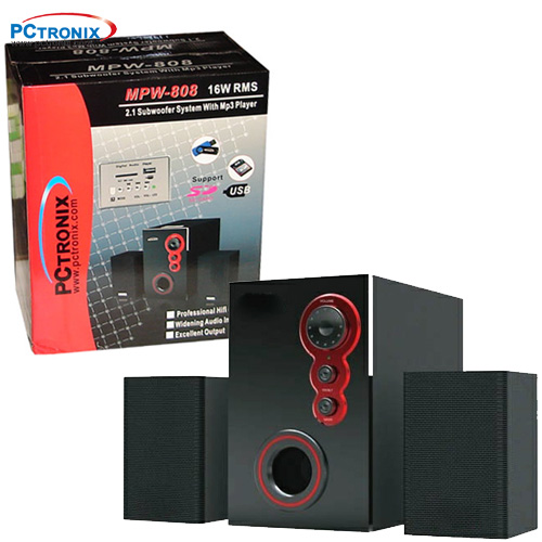 Woofer Mp3 (Pendrive) 2.1 #MPW808 16WRMS