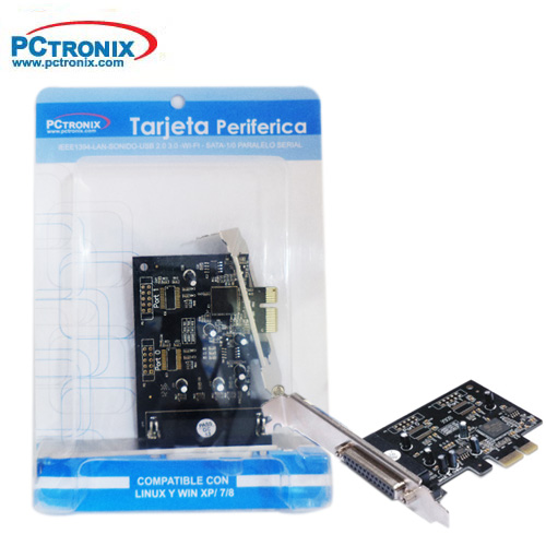 Tarjeta PCI-E parallel 1 port with low profile 1Blister